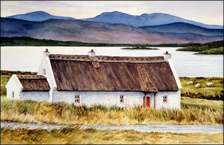 Donegal Cottage An Original Watercolor Painting Of Ireland By Geraldine McKeown