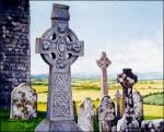 Celtic Crosses: original watercolor near the Rock of Cashel by Geraldine McKeown