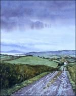 Donegal Showers: original watercolor painting of Ireland by Geraldine McKeown