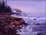 Kristina's Wrath - original watercolor painting of Maine coast by Gerry McKeown