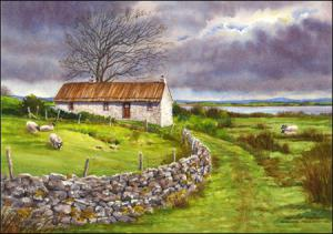Old thatched cottage in Ireland