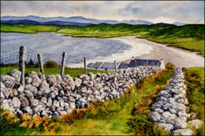 Path to the Sea : original watercolor of Ireland by Geradline McKeown